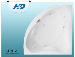 H2O 4+4+2 Masszázsrendszer