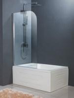 Hopa Evora üveg Kádparaván 80 x 130 cm