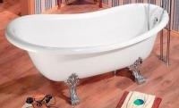 M-Acryl Classica Térben álló kád Króm lábbal 160 x 78 cm